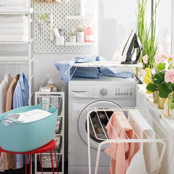 Ikea Inspired How To Make Flexible Laundry Room With Jonaxel Storage System