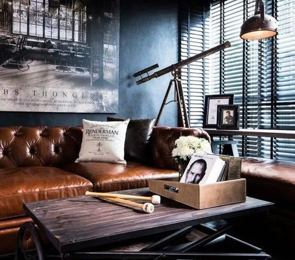 21 Cool Leather Sofas With Masculine Vibe For Man Caves