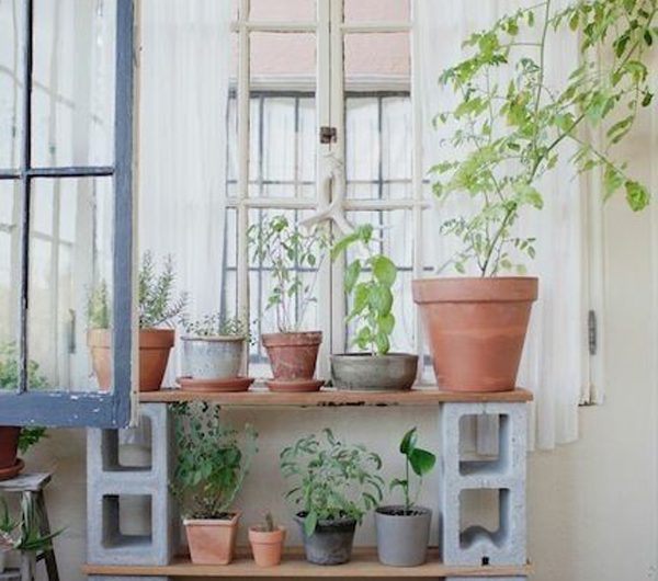 22 Creative Ways To Create Plant Stands From Cinder Block
