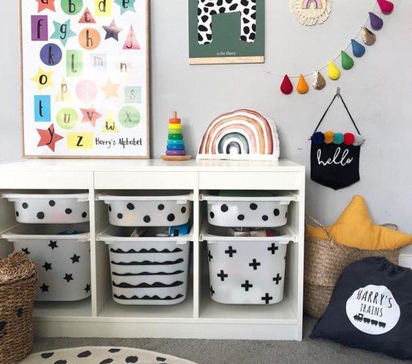 32 Creative DIY IKEA TROFAST Hacks For Kids Space