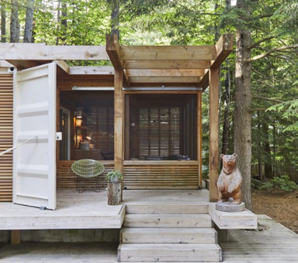 Muskoka Cabin: Nature Inspired Container House Only 35 Square Meters