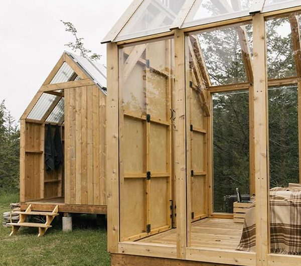 Open Wooden Cabin For Nature Escape