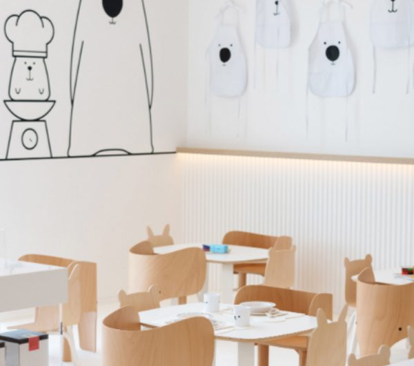 White and the Bear: Kid-friendly Restaurant With Neutral Colours