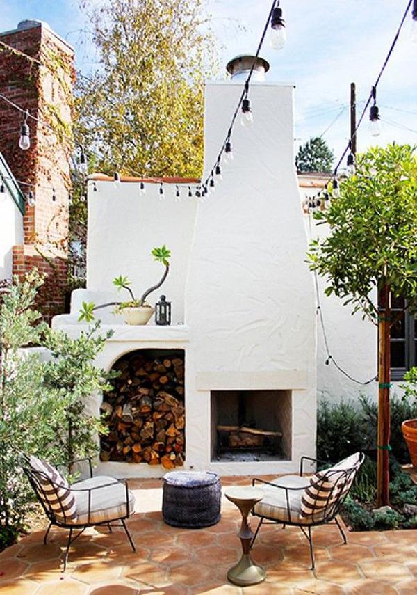 cozy-small-backyard-with-fireplace-ideas