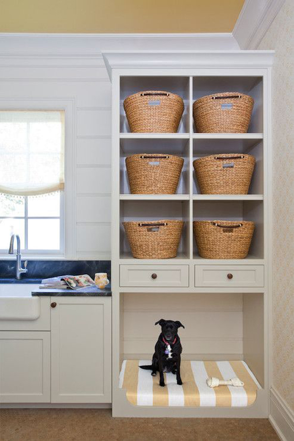 farmhouse-kitchen-cabinet-with-dog-space
