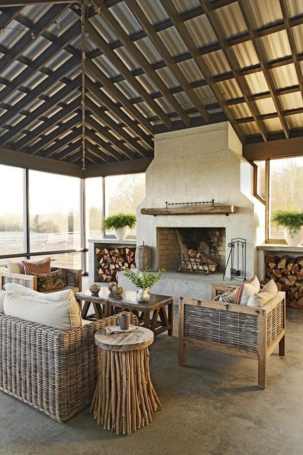 inspiring-indoor-outdoor-fireplace-ideas-with-rattan-furniture