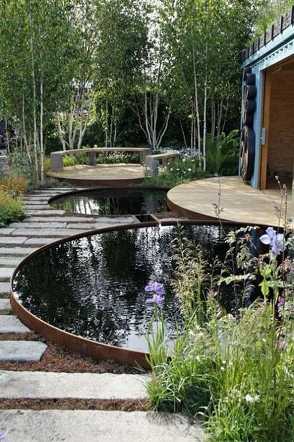 minimalist-round-pond-for-backyard