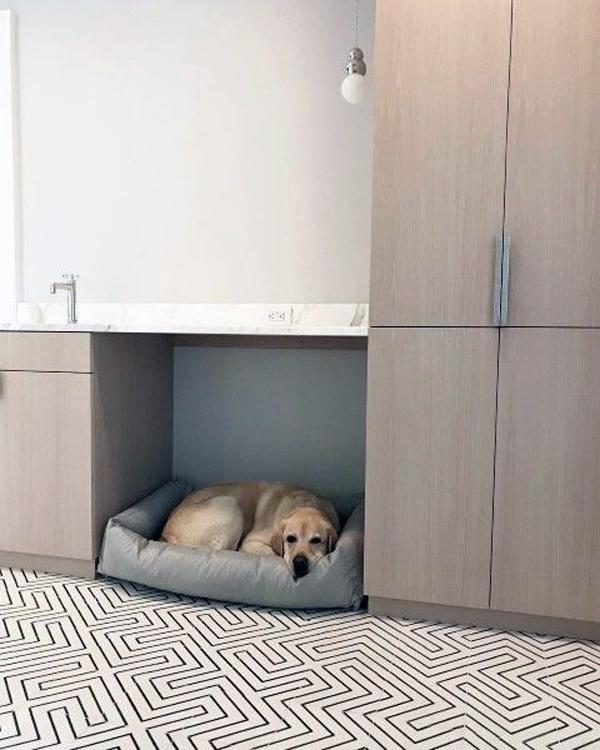 modern-built-in-dog-bed-under-sink
