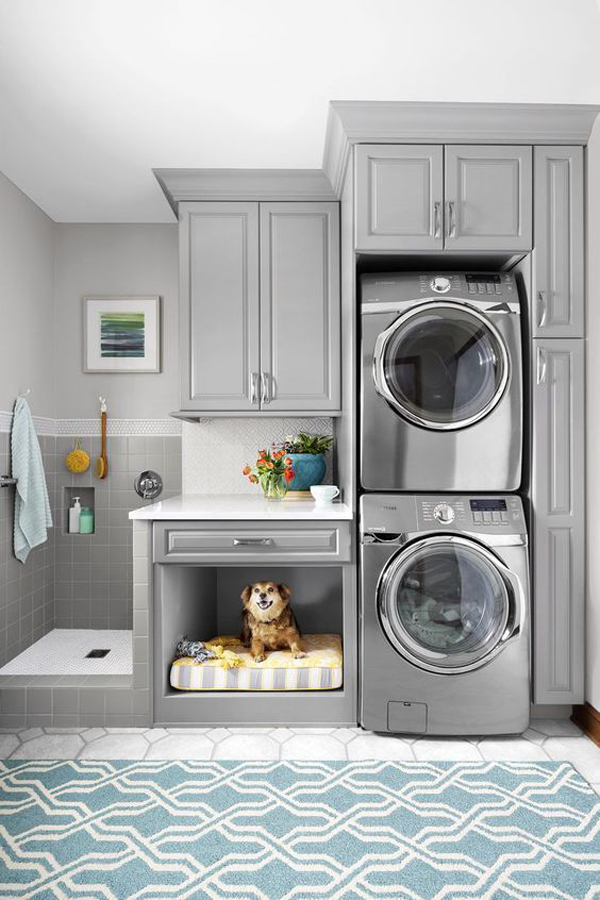 modern-laundry-room-with-dog-bed