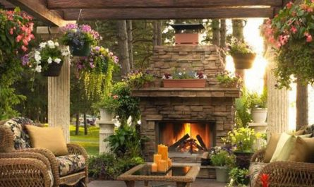 outdoor-living-spaces-with-fireplace-and-wooden-gazebo