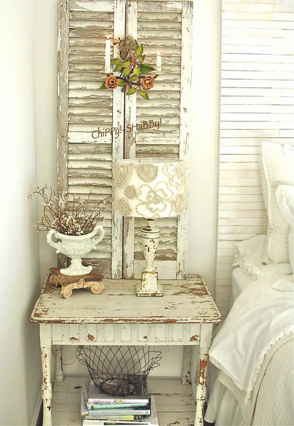 shabby-chic-bedroom-with-vintage-diy-side-table