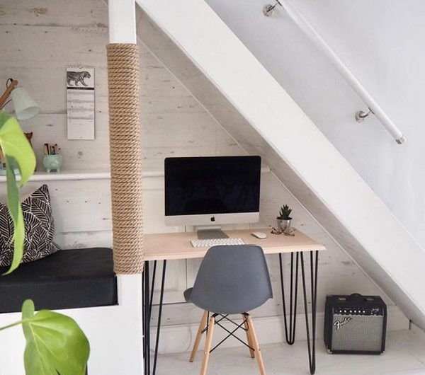 How To Make Small Home Office In Under The Stairs