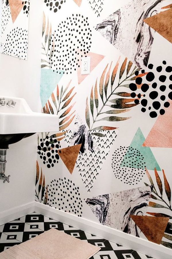 abstract-palm-leaf-wallpaper-for-bathroom