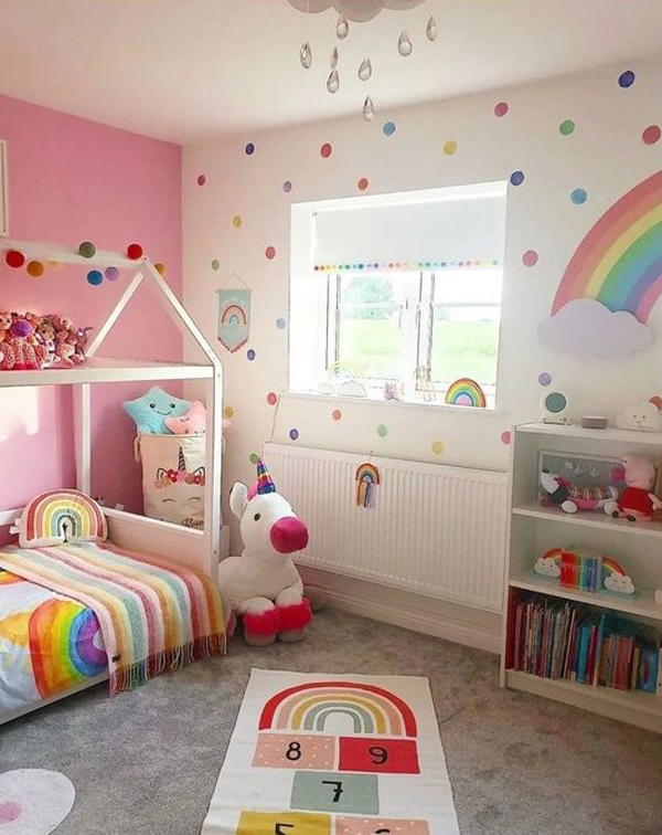 adorable-rainbow-kids-bunk-bed