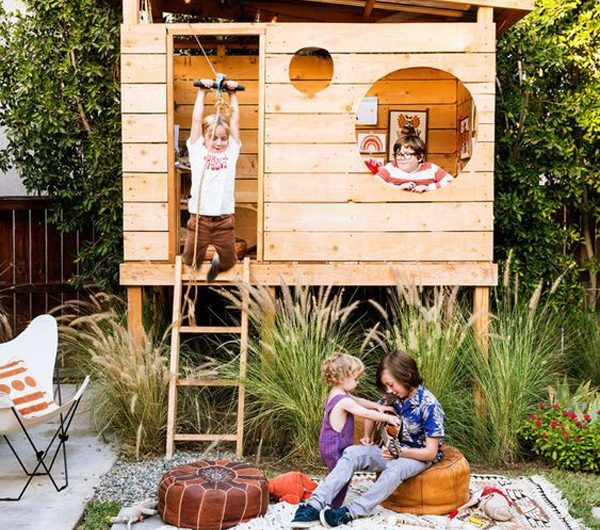 22 Fun DIY Treehouse Ideas With Play Area