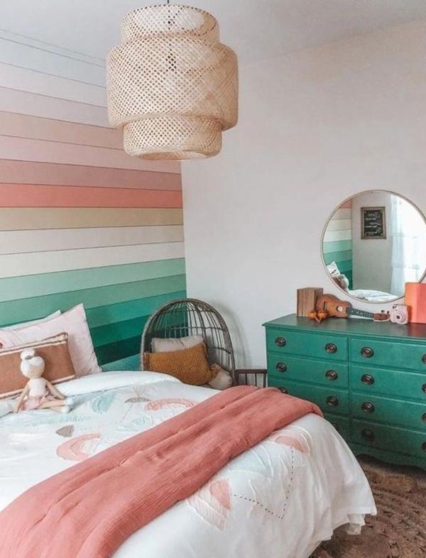 beautiful-rainbow-themed-bedroom-decor