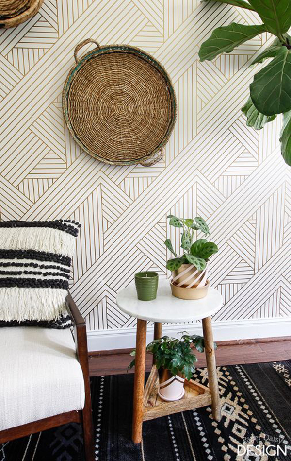 boho-chic-interior-with-wall-decals