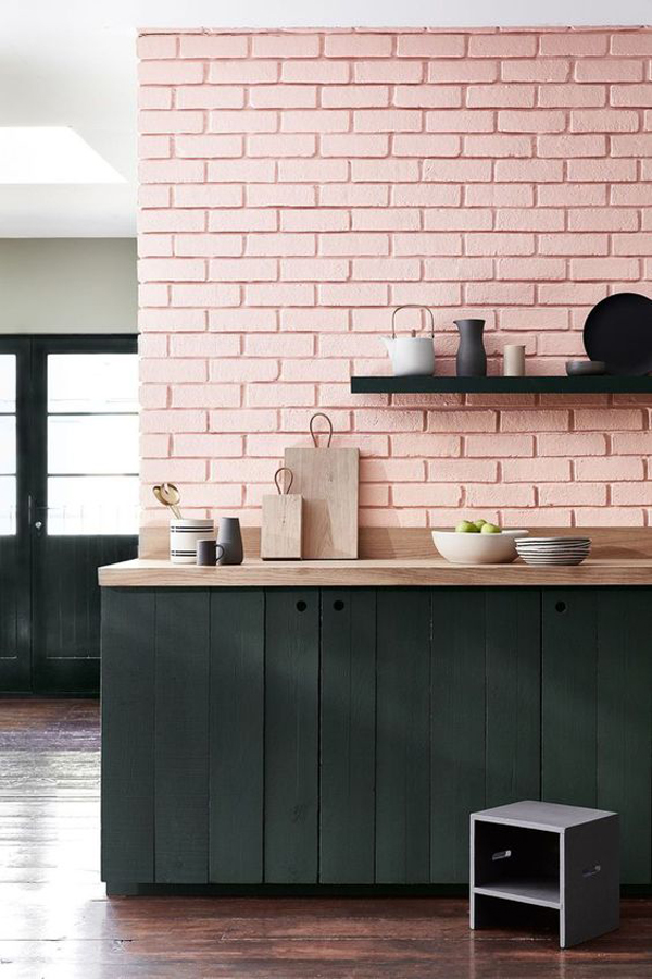 exposed-brick-pastel-kitchen-ideas