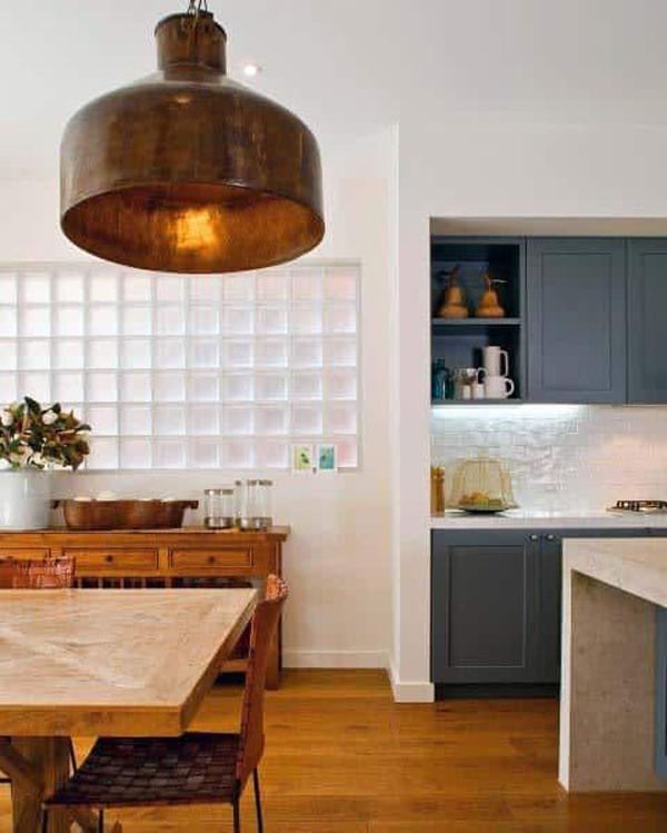 farmhouse-kitchen-interior-with-glass-block-wall