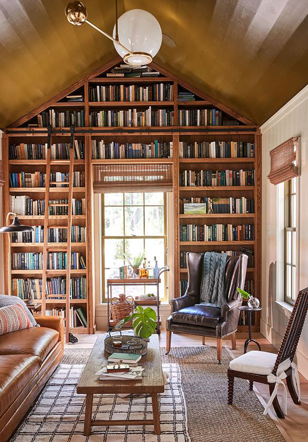 home-library-wall-architecture