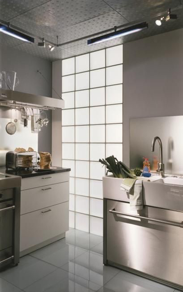 mid-century-modern-kitchen-with-glass-block-wall