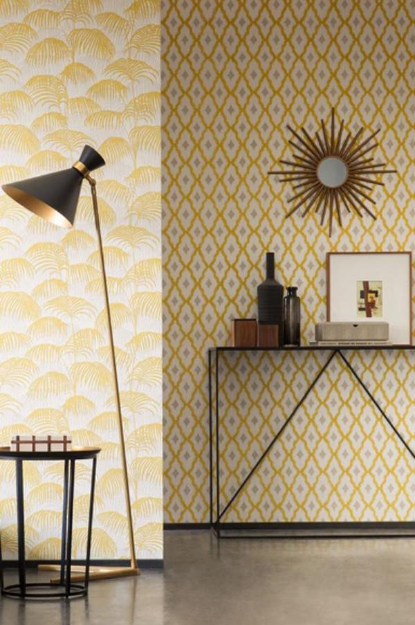 mid-century-yellow-wallpaper-ideas