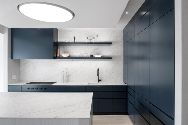 minimalist-blue-kitchen-island