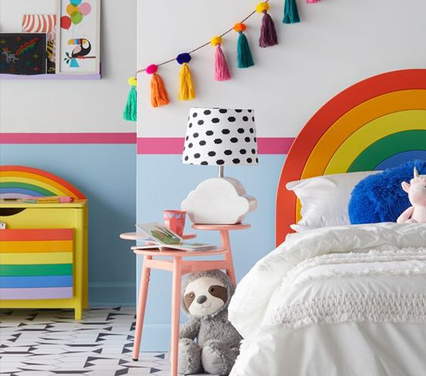25 Dreamy Rainbow Themed Bedroom For Little Girl's