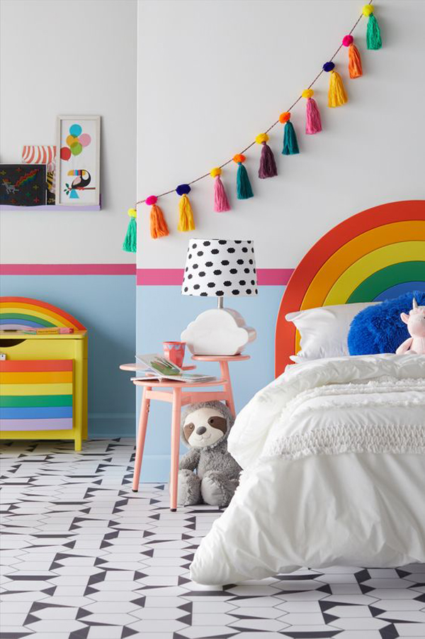 modern-and-minimalist-rainbow-themed-bedroom