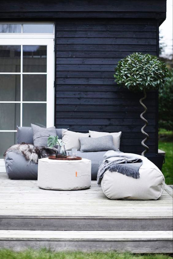 outdoor-living-room-with-bean-bag-chair