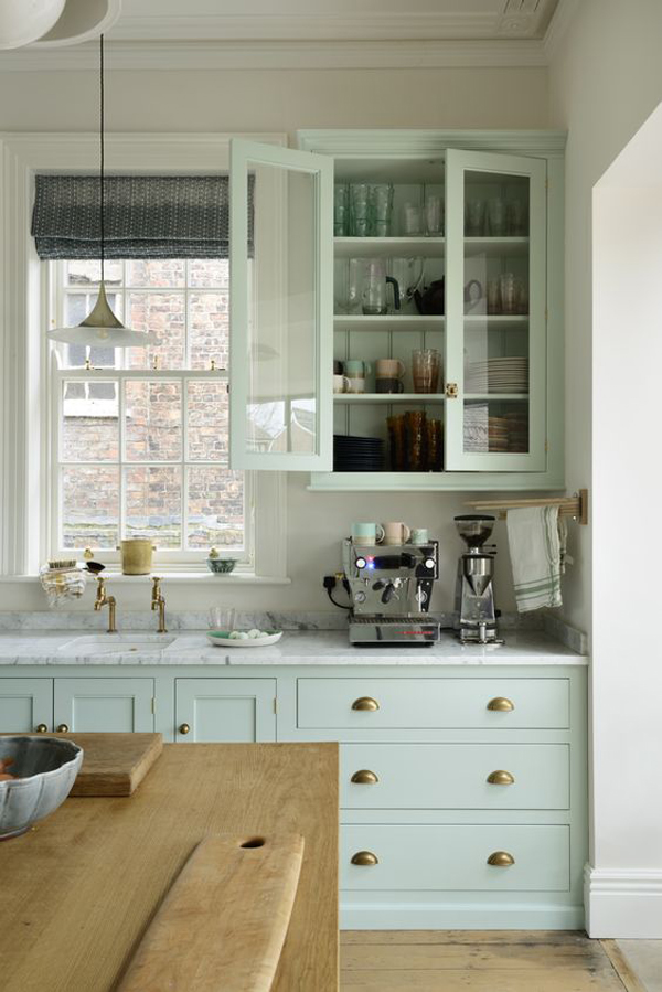 pastel-green-kitchen-with-vintage-touches