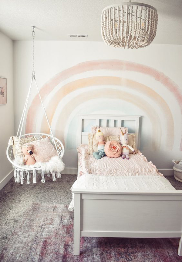 pastel-raibow-themed-bedroom-decor