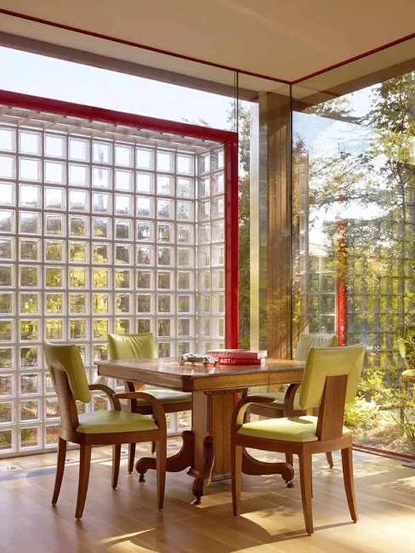 retro-dining-room-with-glass-block-walls