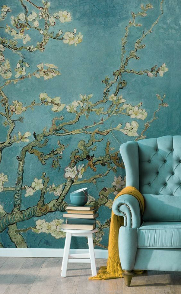 rustic-tree-wallpaper-with-soft-sofas