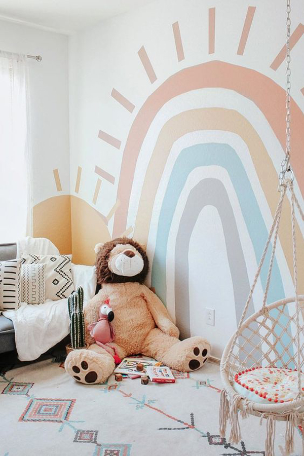 simple-rainbow-bedroom-wall-ideas