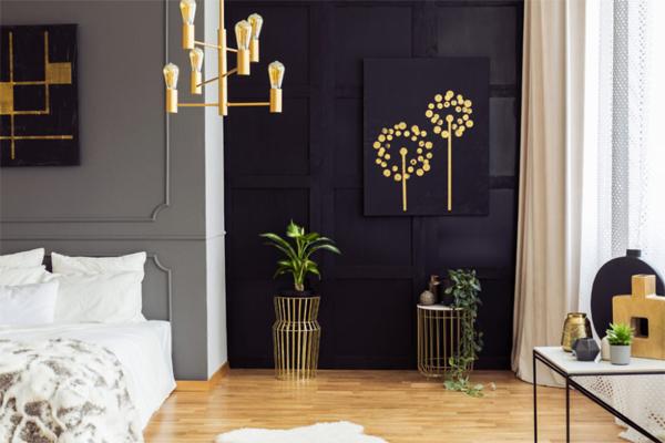 black-and-gold-bedroom-design