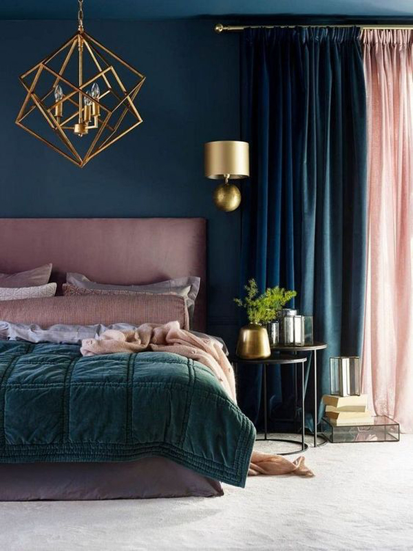 blue-bedroom-ideas-with-gold-accents