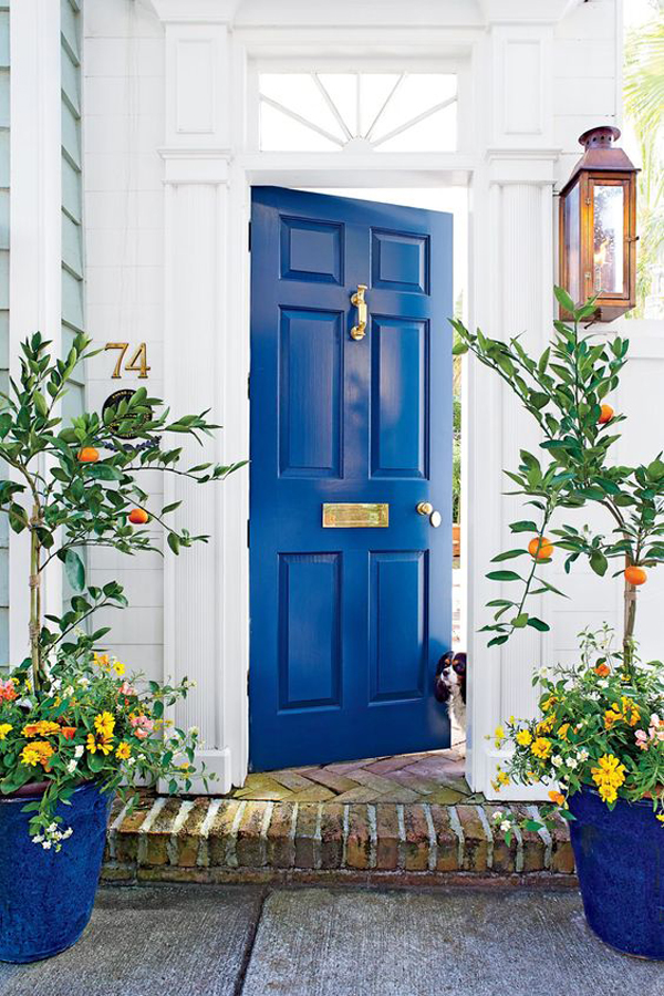 blue-front-door-with-bold-colors