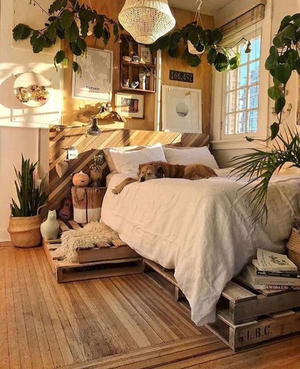 bohemian-bedroom-ideas-with-nature-element
