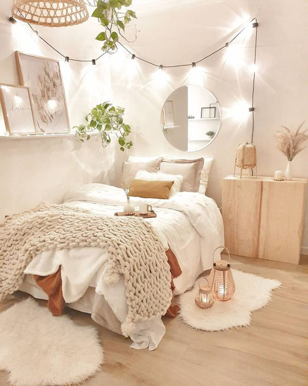 boho-chic-bedroom-ideas-with-lights