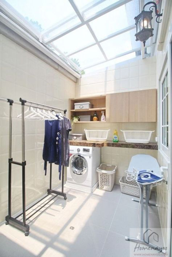 bright-laundry-and-drying-room-with-skylight