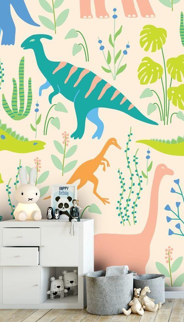 cute-dinosaurs-wall-mural