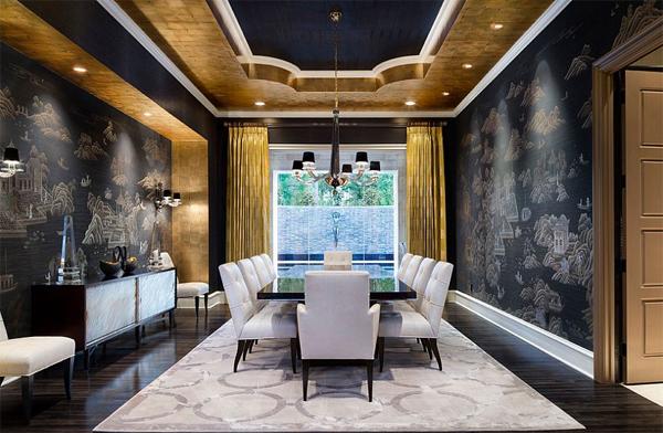 dark-gold-dining-room-design