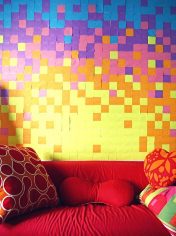 diy-sticky-note-wall-decorations