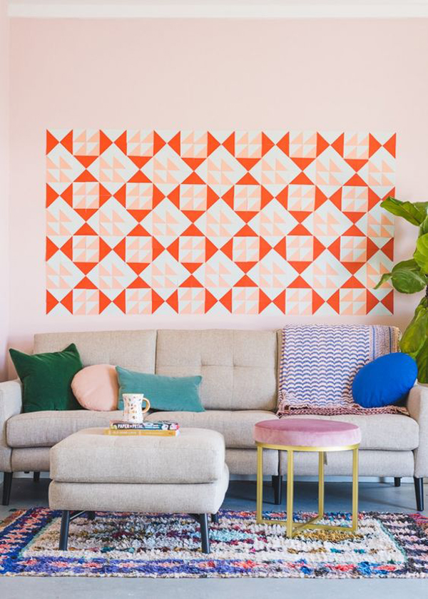 diy-sticky-notes-mural-for-living-room