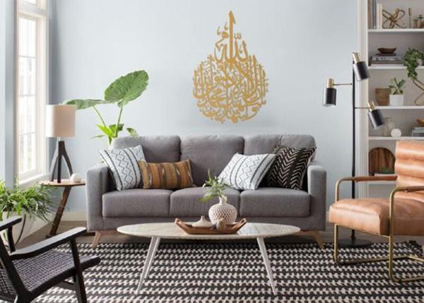 eid-living-room-decor-with-metal-islamic-wall