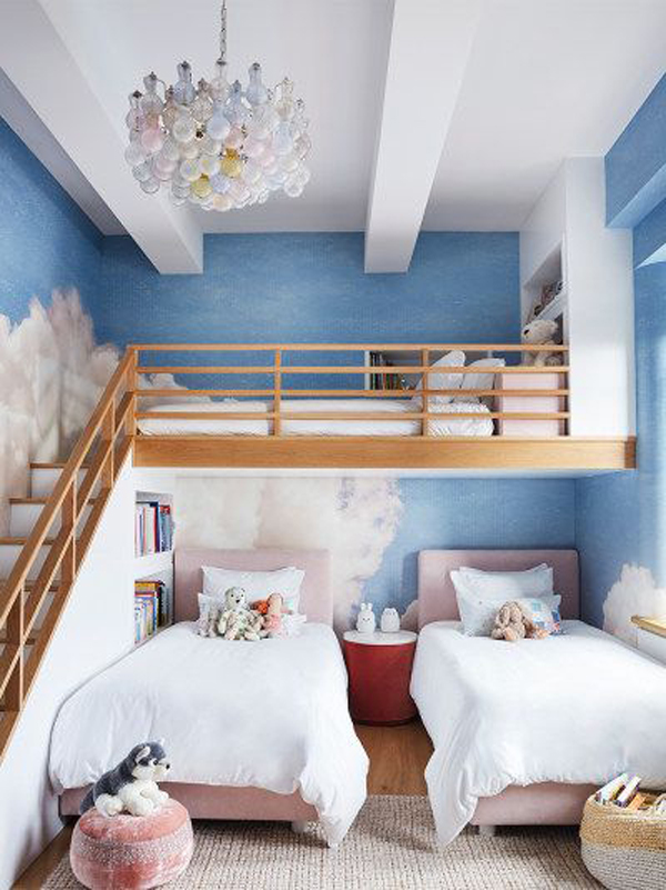 kid-loft-rooms-with-cloud-painted-walls