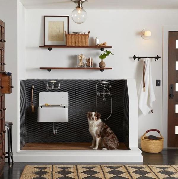 luxury-dog-wash-station-with-boho-style