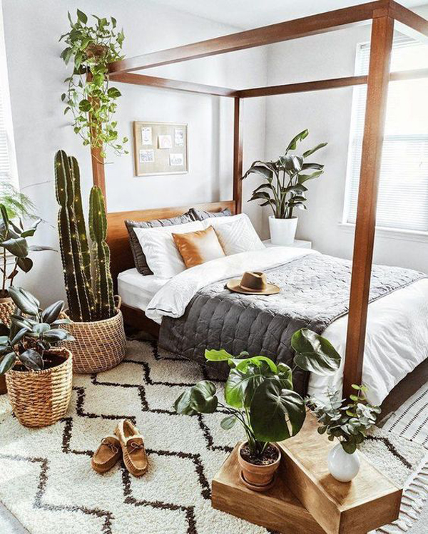 masculine-boho-bedroom-ideas-with-nature-inspired