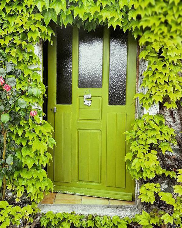 nature-welcoming-green-front-doors